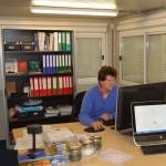Henk van Dijk at work.JES Pipelines office Heijplaat Rotterdam